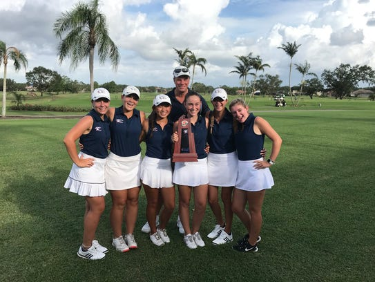 The Estero High School girls golf team finished second