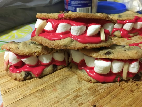 A fresh stack of Dracula's dentures ready for trick-or-treaters.
