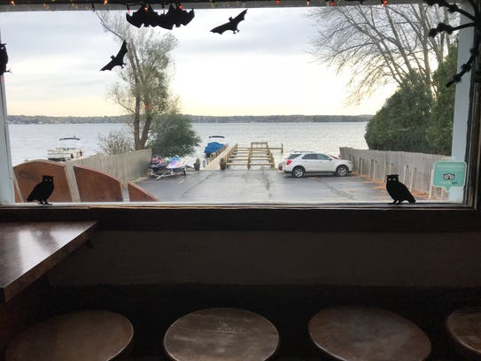 Doc's Dry Dock is only feet away from Pewaukee Lake