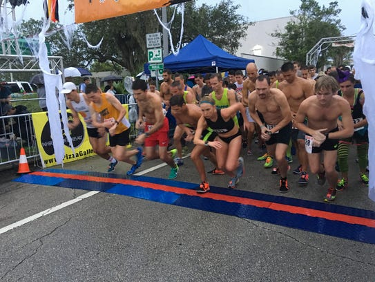 The start of the Ghostly Gecko 5K.
