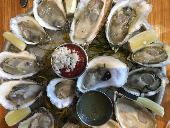 Oysters from Jockey Hollow Oyster Bar in Morristown.