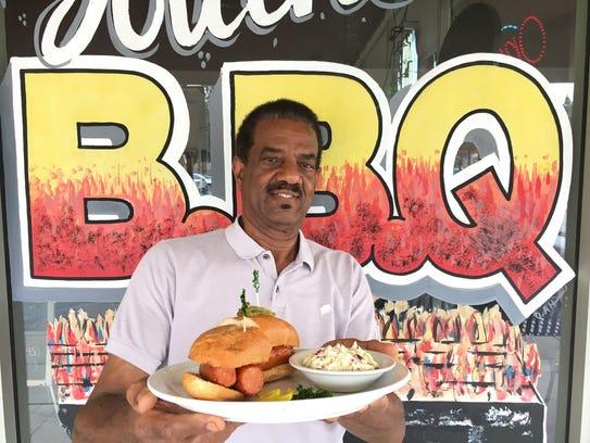 Mel Johnson, owner of St. Francis BBQ in Camarillo,