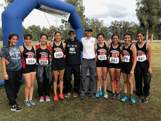 Rio Mesa High clinched the Pacific View League girls