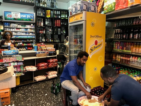 A bodega is seen in south Tel Aviv owned by Ethiopian