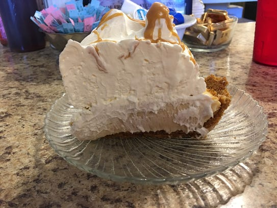 Peanut butter cream pie at Crystal Cafe in Iola.