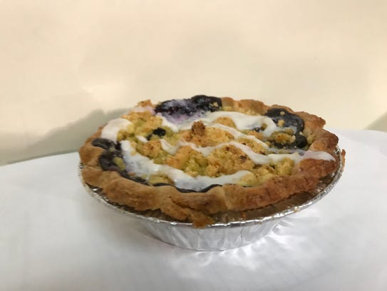 Blueberry pie at Johnston's Bakery in Sheboygan