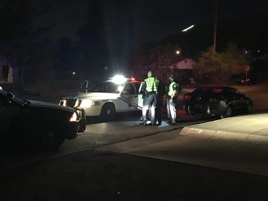 Police took a man into custody after he allegedly crashed