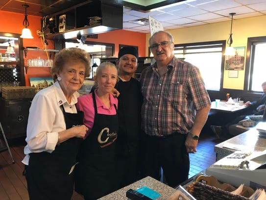 The staff at Christina's Family Restaurant, 350 Delafield St. in Waukesha (from left) Barbara Huebner, Cari Kraft, Gustavo Gutierrez and George Papagianis.