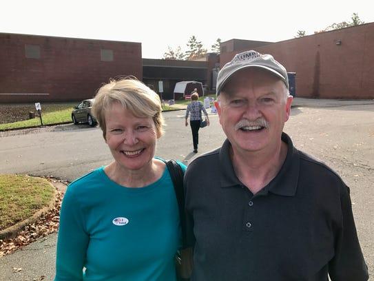 Haw Creek residents Helen and Rob Carroll split their