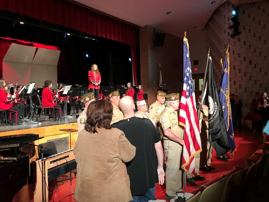 Students held a concert for military veterans at Lakeland