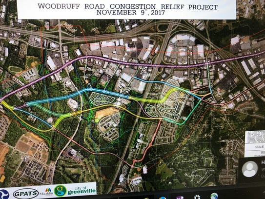 DOT officials hope to find remedies for Woodruff Road