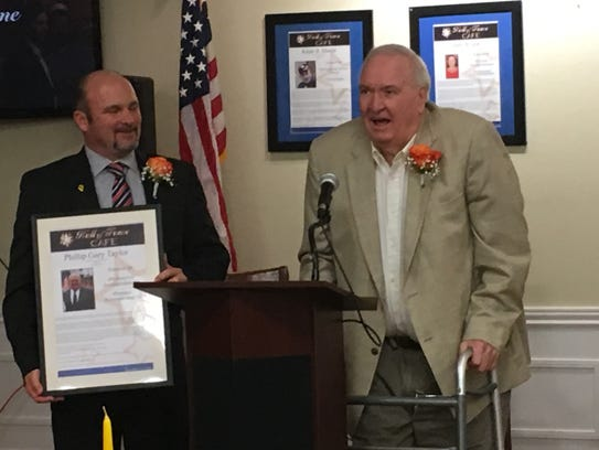 Gary Taylor said his induction into the Signature HealthCare