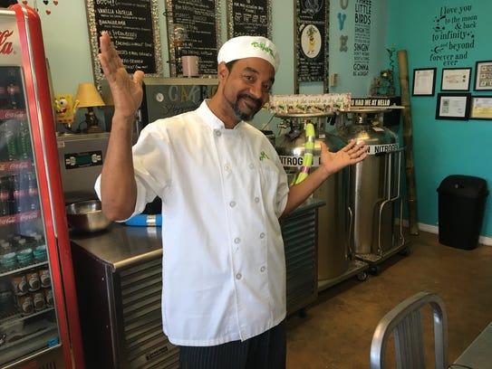 Rey Hernandez owns Tickled Taco inside Best Ice Cream