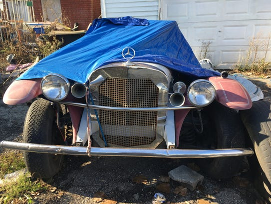 A vintage roadster is one of four late-model Mercedes-Benz