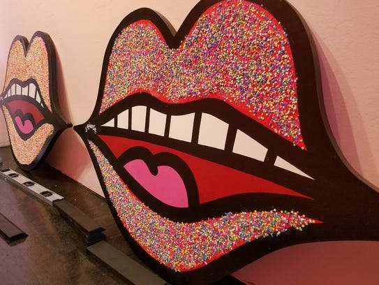 These playful lips filled with sprinkles will be on