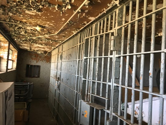 The cell block of the former Houston County Jail is