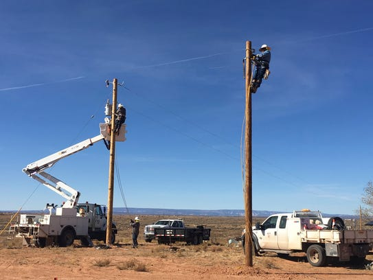 This undated photo provided by the Navajo Tribal Utility