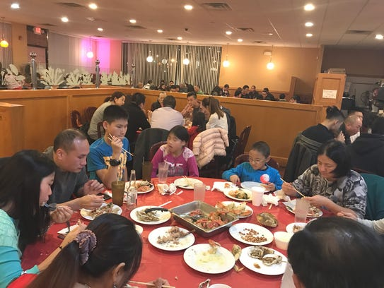 Rochester area Chinese families gathered for a Thanksgiving