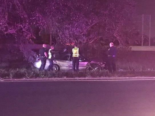 Corpus Christi police respond to a fatal crash on the