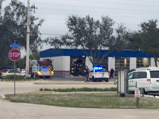 Police on scene at Schlenker's Automotive in Rockledge.