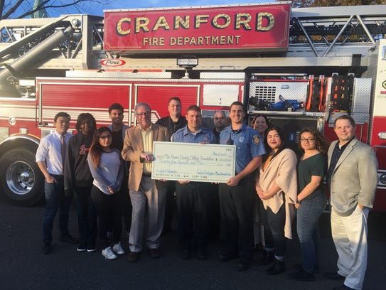 Cranford firefighters were joined by Union students