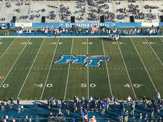 A bill allowing alcohol sales at MTSU campus sports facilities passed the Tennessee House on Monday. MTSU's Floyd Stadium is shown here in a file photo.