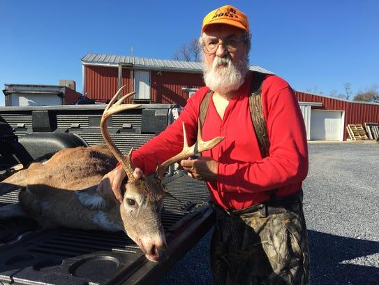 Donald Boxler of Mont Alto bagged an eight-point buck