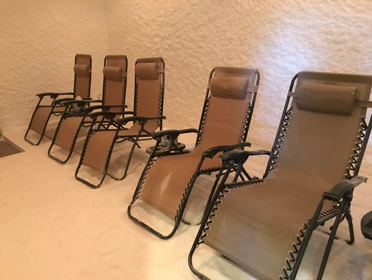 The Salt Room's adult area has six chairs.