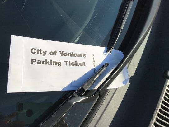 A City of Yonkers parking ticket envelope.