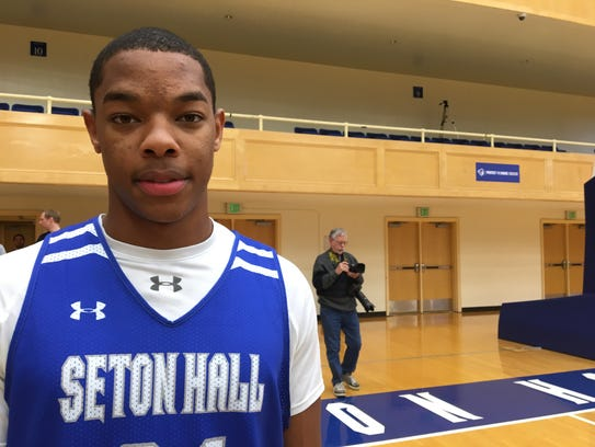 Shavar Reynolds at Seton Hall practice