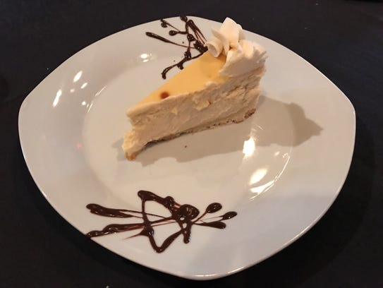 Mexican vanilla cheesecake at Salt and Pepper is heavenly