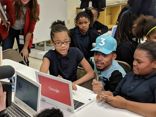Chance The Rapper at Google's CS First Roadshow at