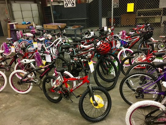 Bicycles stored for Last Minute Toy Store to be held