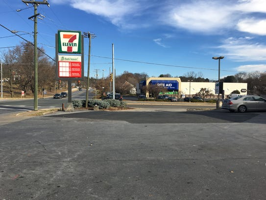 The 7-Eleven in Staunton removed the gas pumps in front