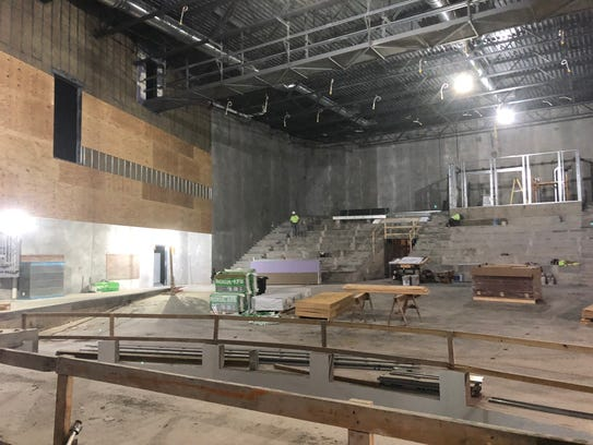 From the stage, the progress made on the new high school