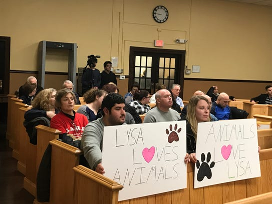 Members of the Garfield Animal Rescue Foundation protested