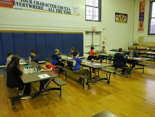 Pequannock Chess Club during the chess tournament.