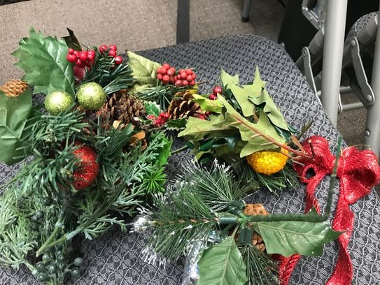 Wreath-makings await those in the holiday craft class