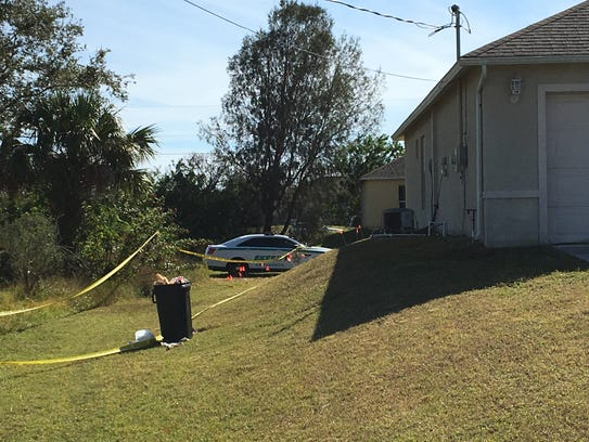 Numerous evidence markers can be seen at the a home