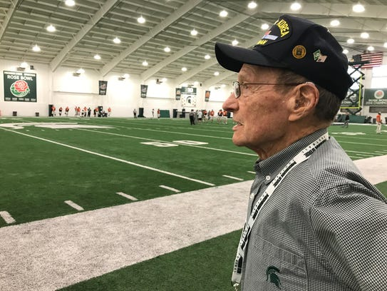 Howard Grider, 92, was honored by the Michigan State
