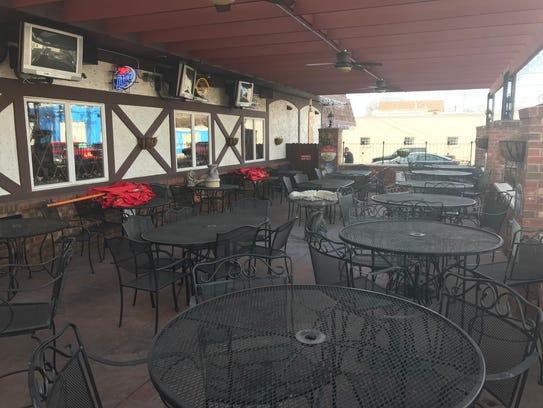 The inn added a patio in 2010.