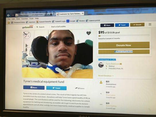 Tyree Robinson died in September after being shot on