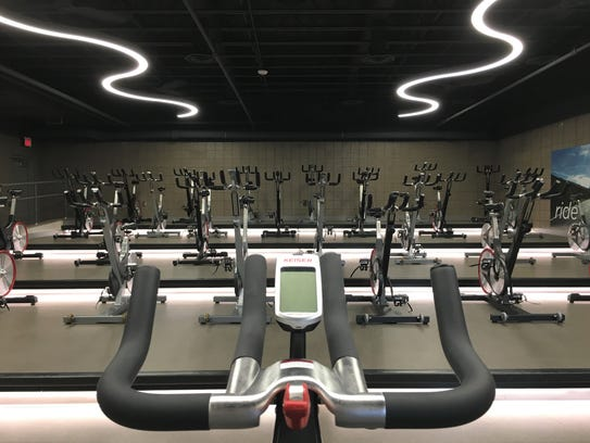 The new cycling studio at the Sanford Wellness Center