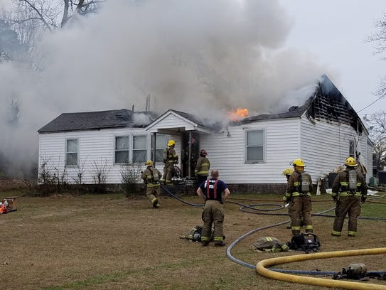 Rural Metro firefighters were able to salvage some