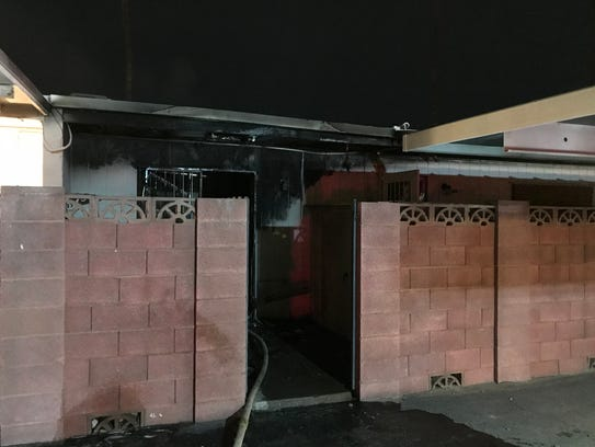 An image from a condominium fire at 35th and Glendale avenues on Jan. 2, 2018.