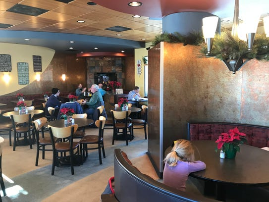 Robert's Frozen Custard's dining area includes a warm