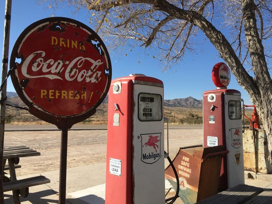 Gas pumps outside Hackberry General Store stopped pumping