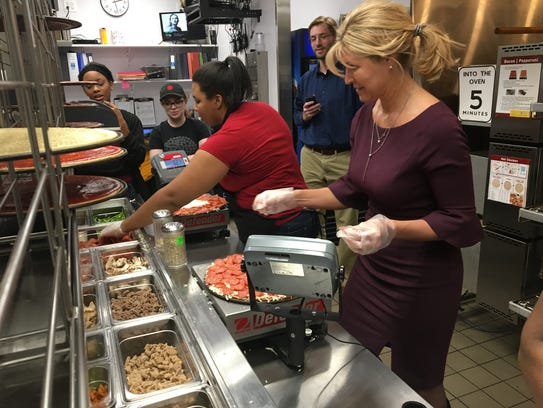 Donatos Pizza board chair Jane Grote Abell races to