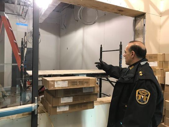 Chief Martin Kahn explaining where the police desk