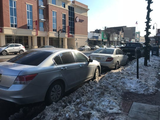 Cars parked on Broad Street in Bloomfield on Tuesday, Jan. 9. The Township Council learned about proposed parking meter upgrades the night prior.